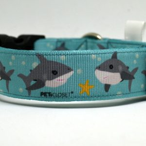 shark dog collar coleira para cão
