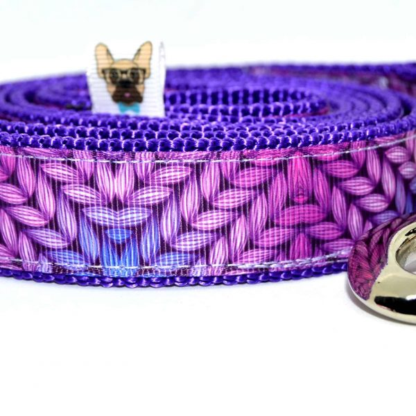trela para cão dog leash dog lead purple